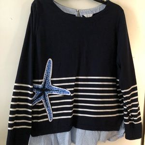 Crown & Ivy like new starfish top 2 X worn once